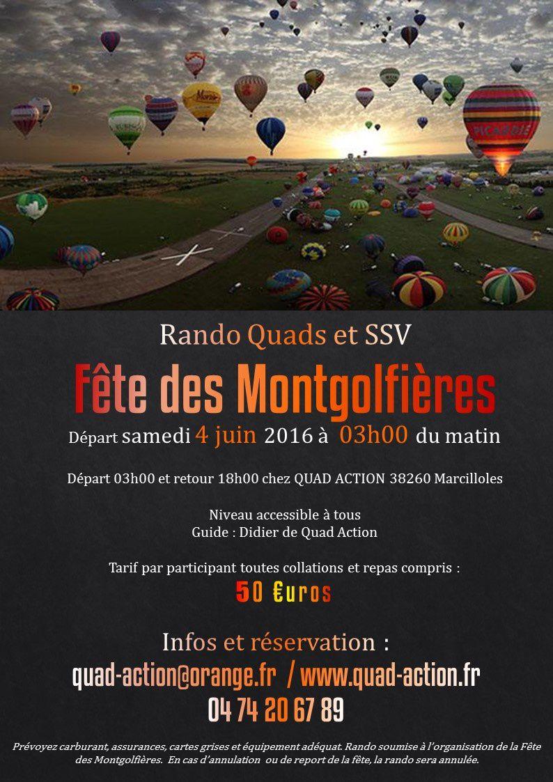 RANDO QUADS et SSV Fête des Montgolfières 2016