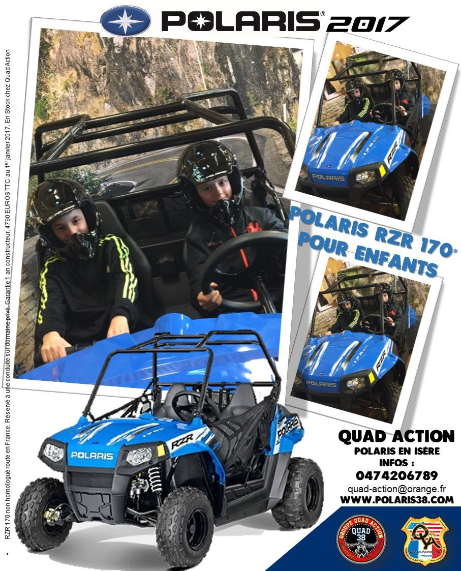 RZR 170 POLARIS 2017 KIDS CHILDREN RZR POLARIS
