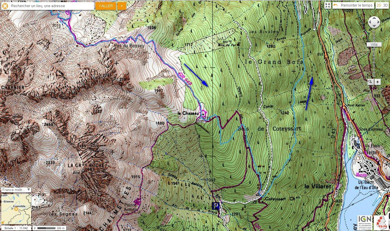 Carte IGN Lac Belledonne (trail) 2/2