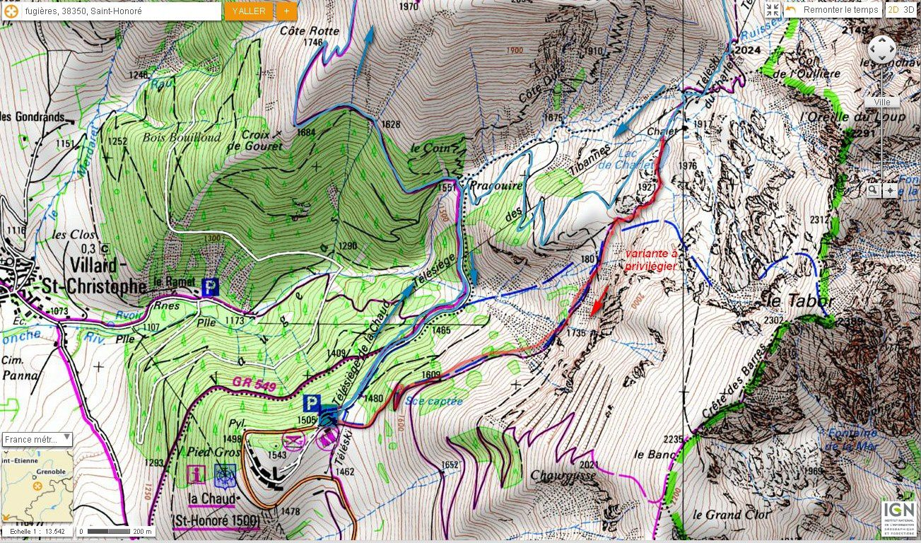 Carte IGN Grand Serre (trail) 1/2