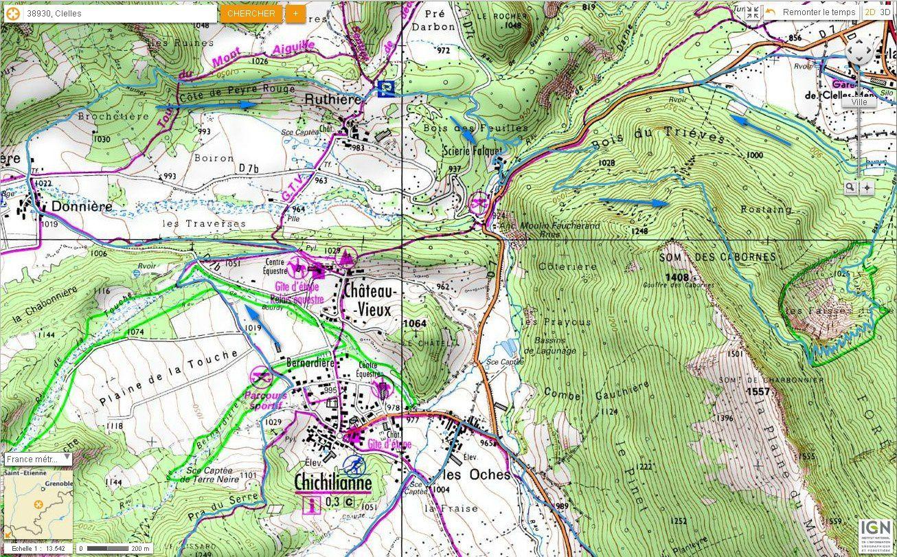 Carte IGN Tour du Platary et Faisses du Géant (VTT) 5/5