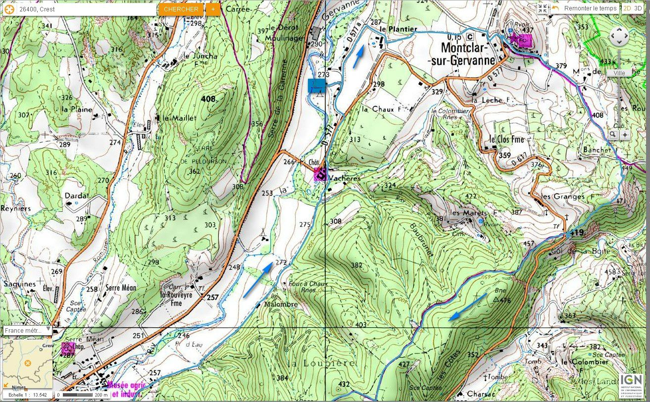Carte IGN Col de Pourcheton (VTT) 1/4