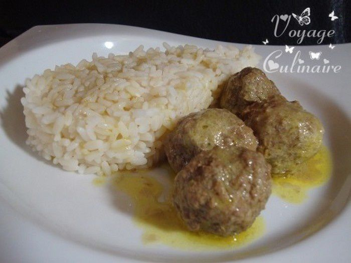 curry de boulettes de b uf voyage culinaire avec christelle. Black Bedroom Furniture Sets. Home Design Ideas