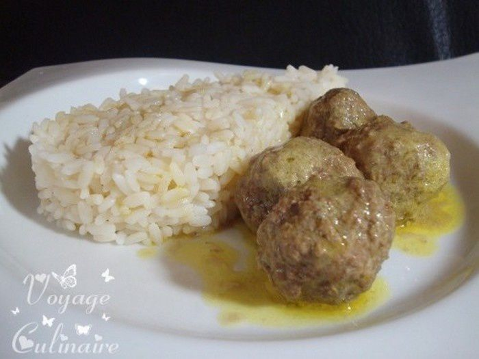 Curry de boulettes de bœuf