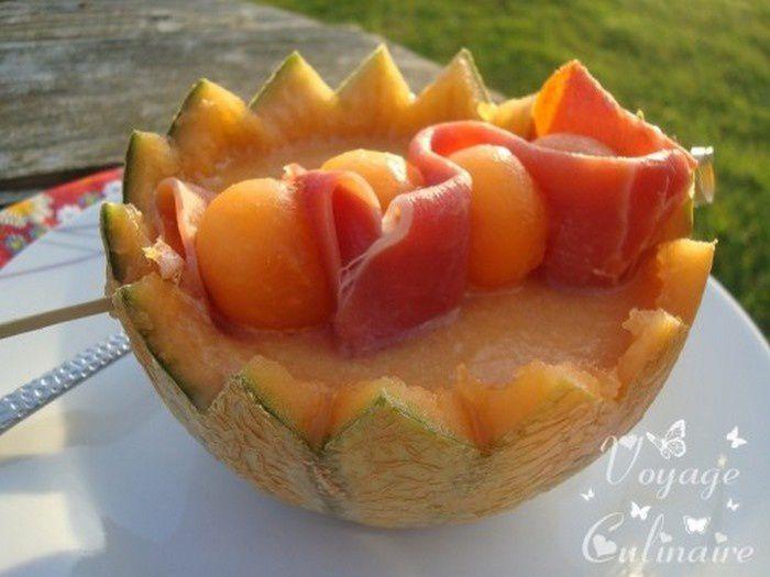 Gaspacho de melon au chouchen