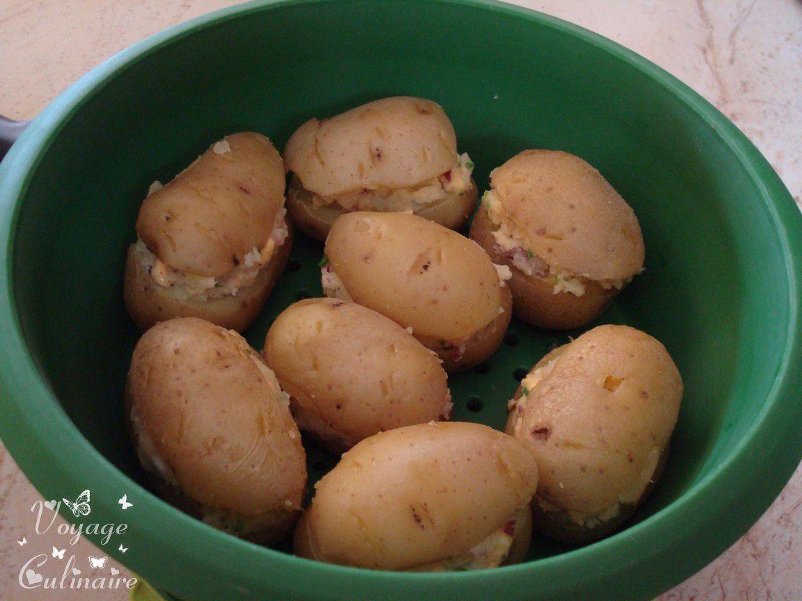 Pommes de terre farcies au cheddar