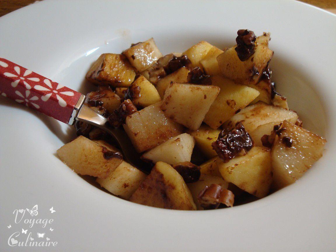 Pommes, poires au sirop d'érable et noix de pécan en Sacs cuisson 2 en 1 Albal