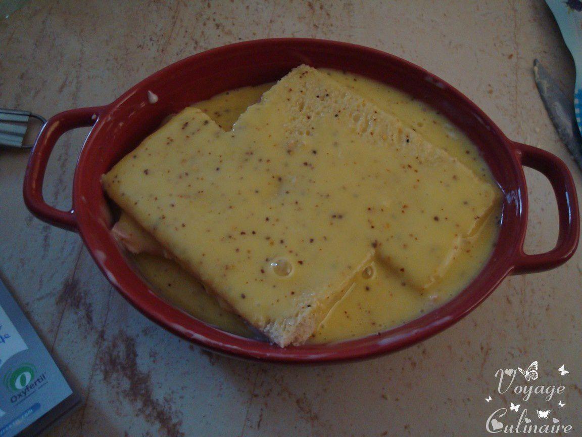 Gratin de pain de mie au jambon et cancoillotte - 9 pp