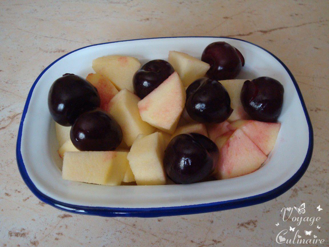 Gratin pomme cerises à l'anis - 3 pp