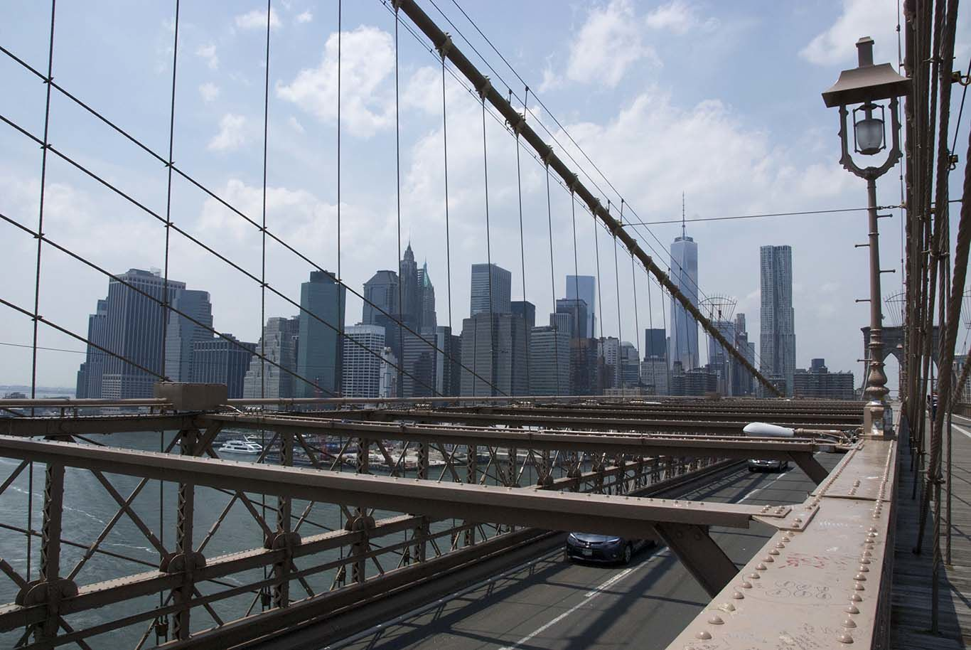 Brooklyn Bridge and a bit of Brooklyn, which is a very pleasant place to hang out in!
