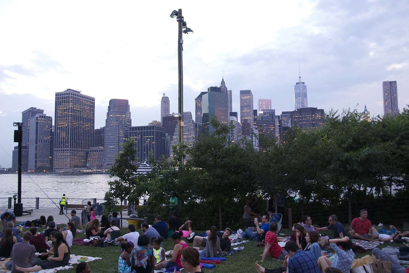 A lovely evening at Brooklyn Bridge Park watching an outdoor movie from the Marx Brothers...