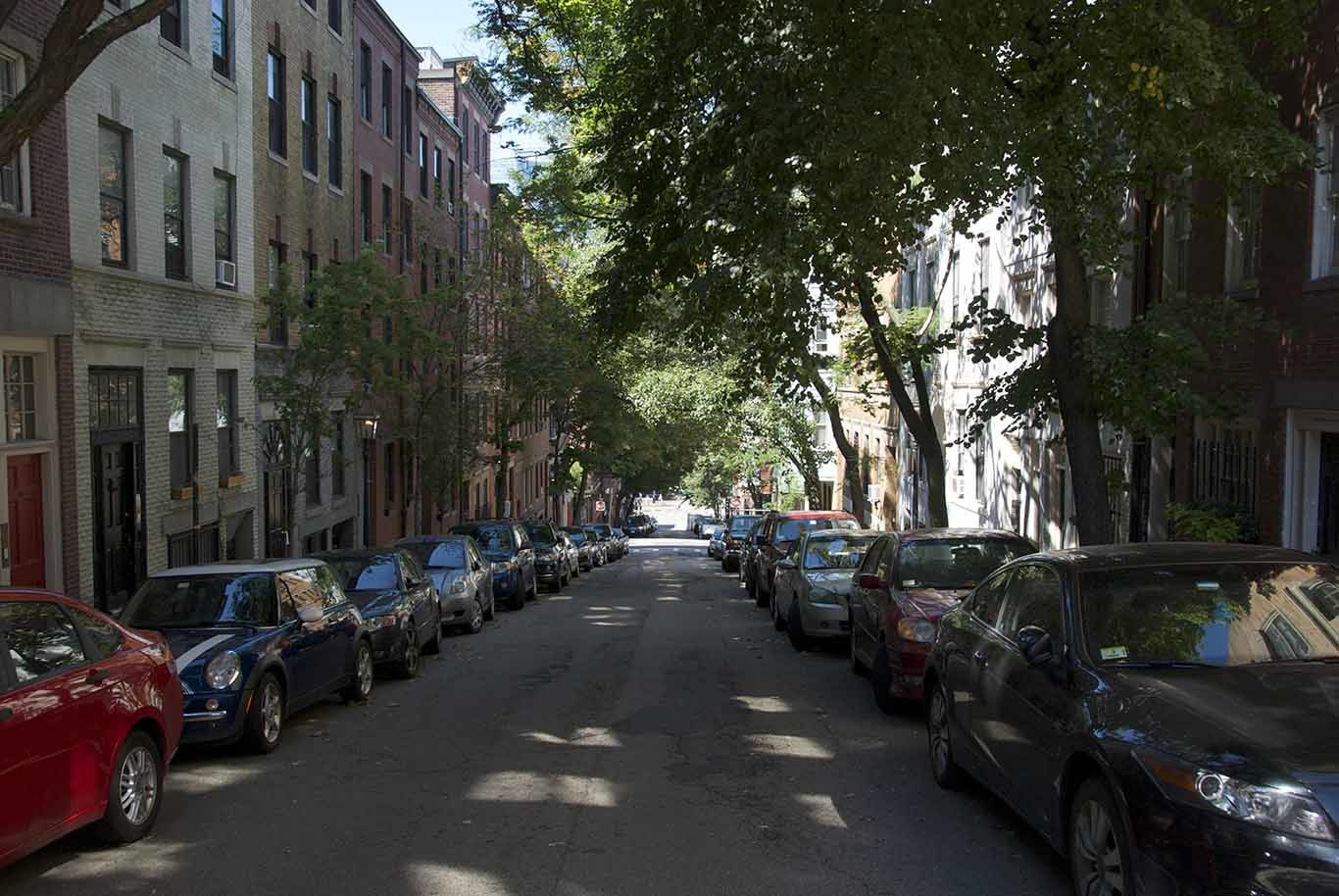 Beacon Hill: very very quiet area downtown Boston, beautiful and very expansive
