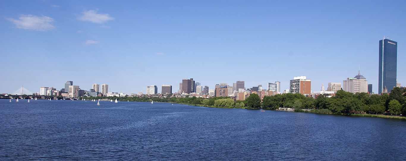 Boston and the very pleasant Charles River Esplanade