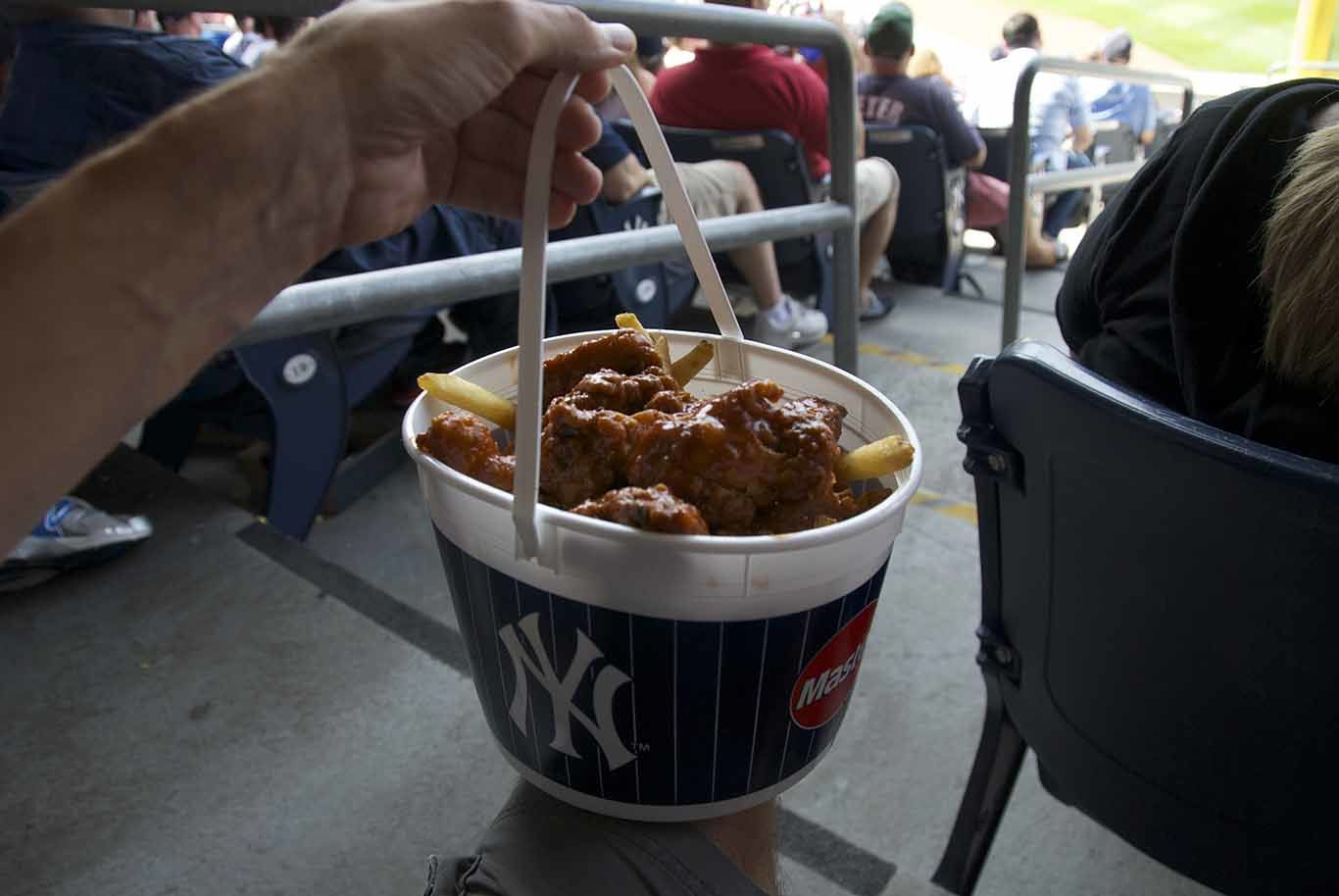 Baseball game is also very much about eating and drinking...
