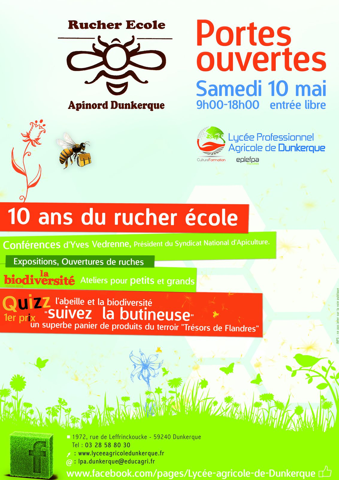 RAPPEL : Dix Ans Rucher Ecole Apinord DUNKERQUE