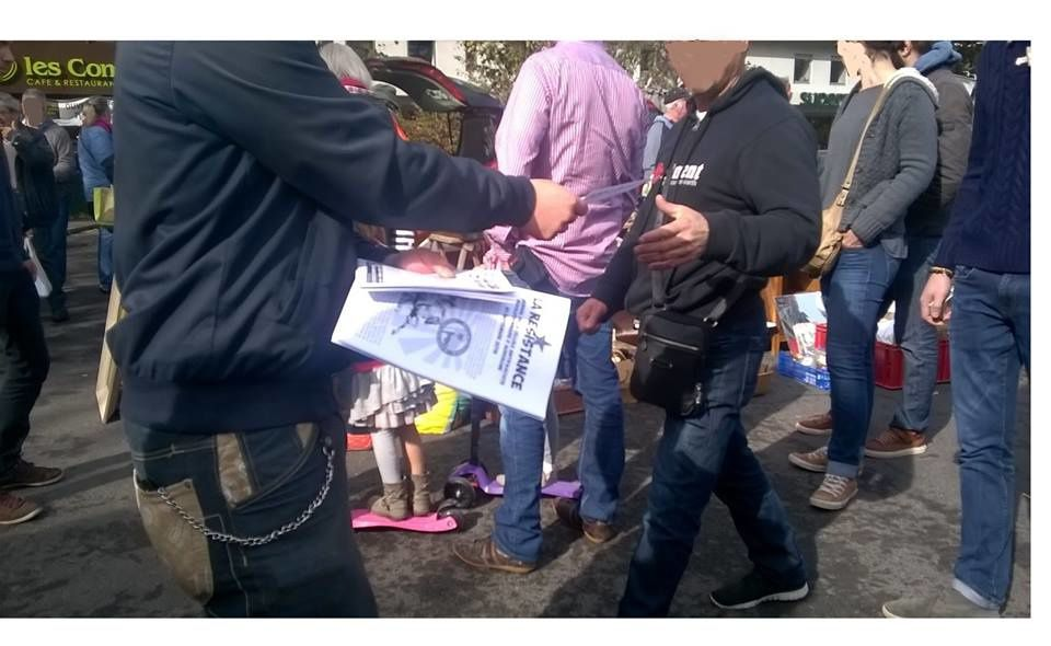 Fin de l'années 2015 : manifestaion et actions contre l'Etat d'Urgence, distributions de tracts et journaux, conférence de soutien aux révolutionnaires turcs et au Kurdistan