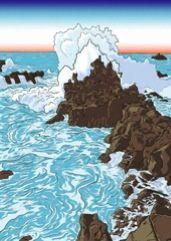 Sur les falaises de Tojimbo, nouvelle publiée sur le site Variations d'une plume