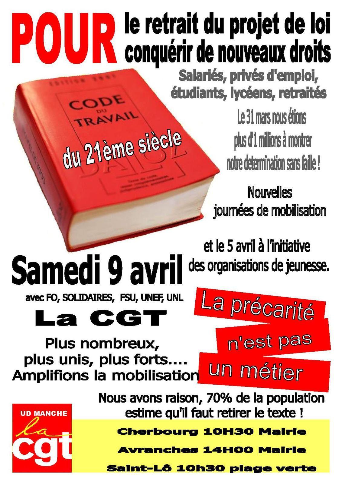 Samedi 09 avril : rassemblement à la plage verte à Saint-Lô à 10 h 30