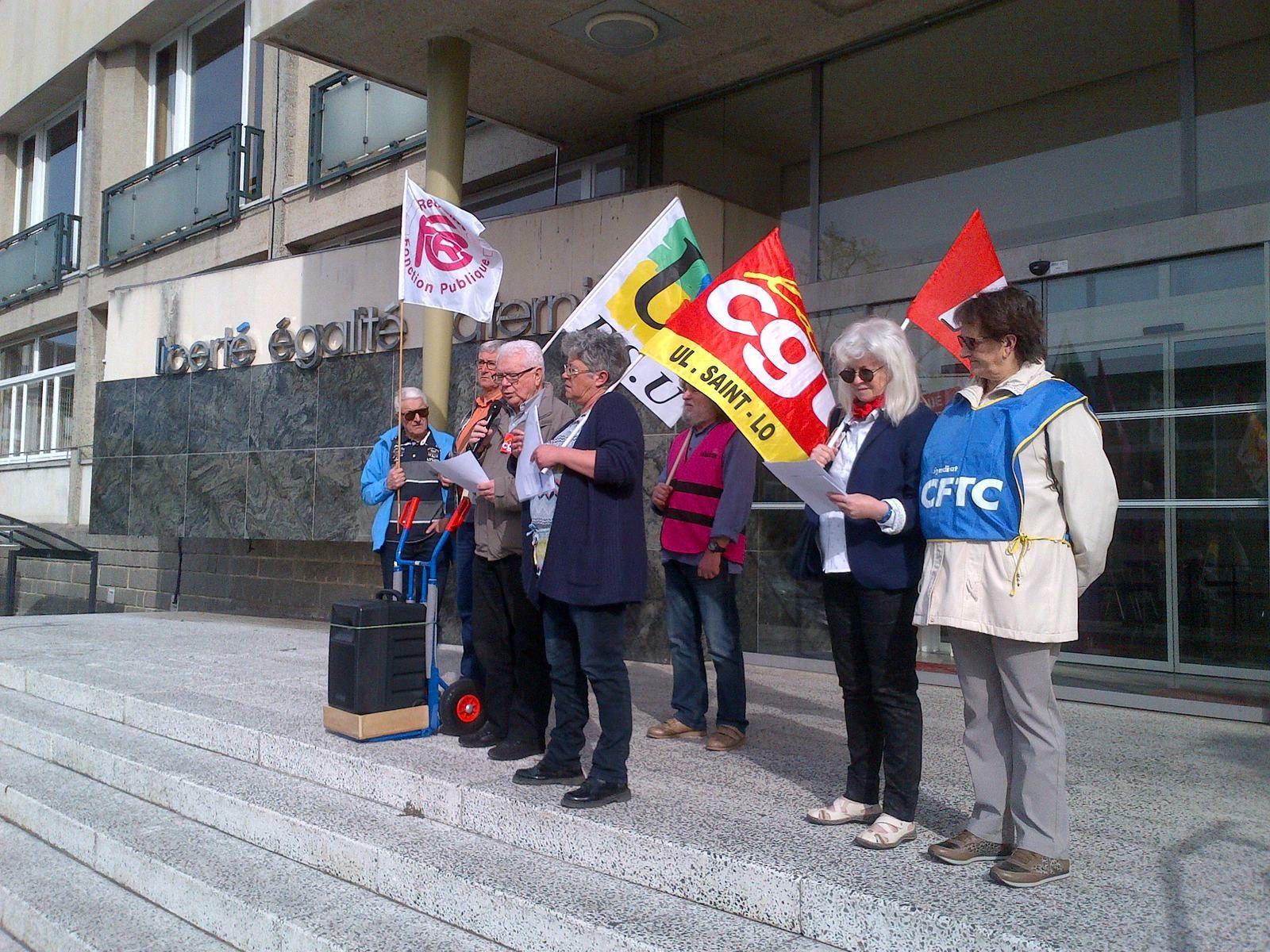 Manifestations des retraités: le 30 mars une centaine de manifesatants