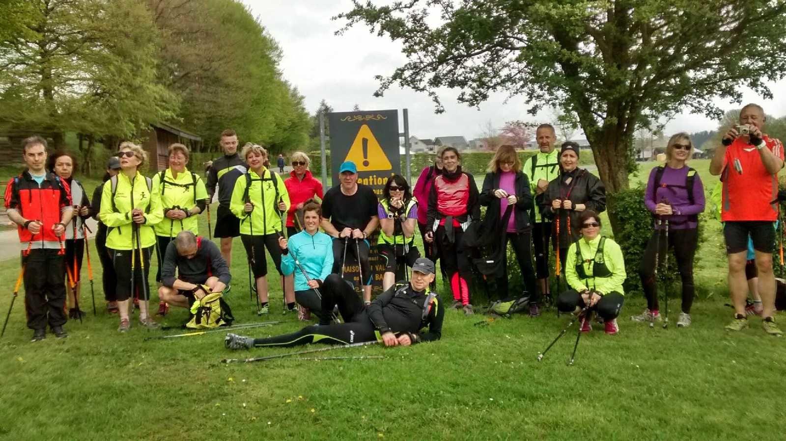 Un groupe de 27 marcheurs nordiques motivés !