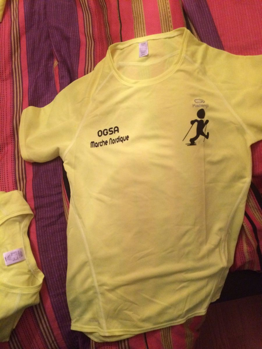 Il reste 5 T-shirts taille XS, 4 taille S, 5 taille M, 1 taille L et 2 taille XXL