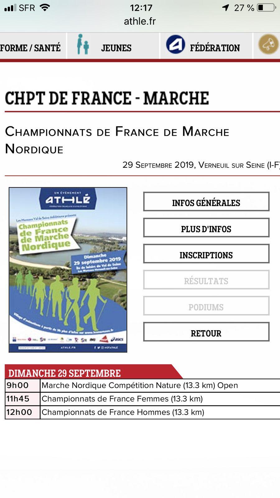 Championnat de France de Marche Nordique