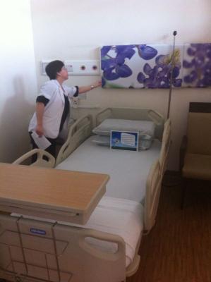Visite d'un hôpital et premier cours