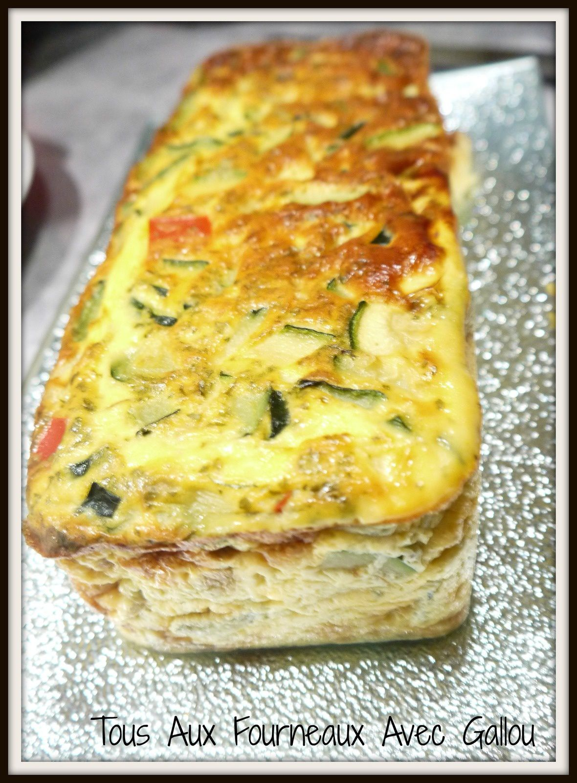 Cake Courgettes & Poivrons