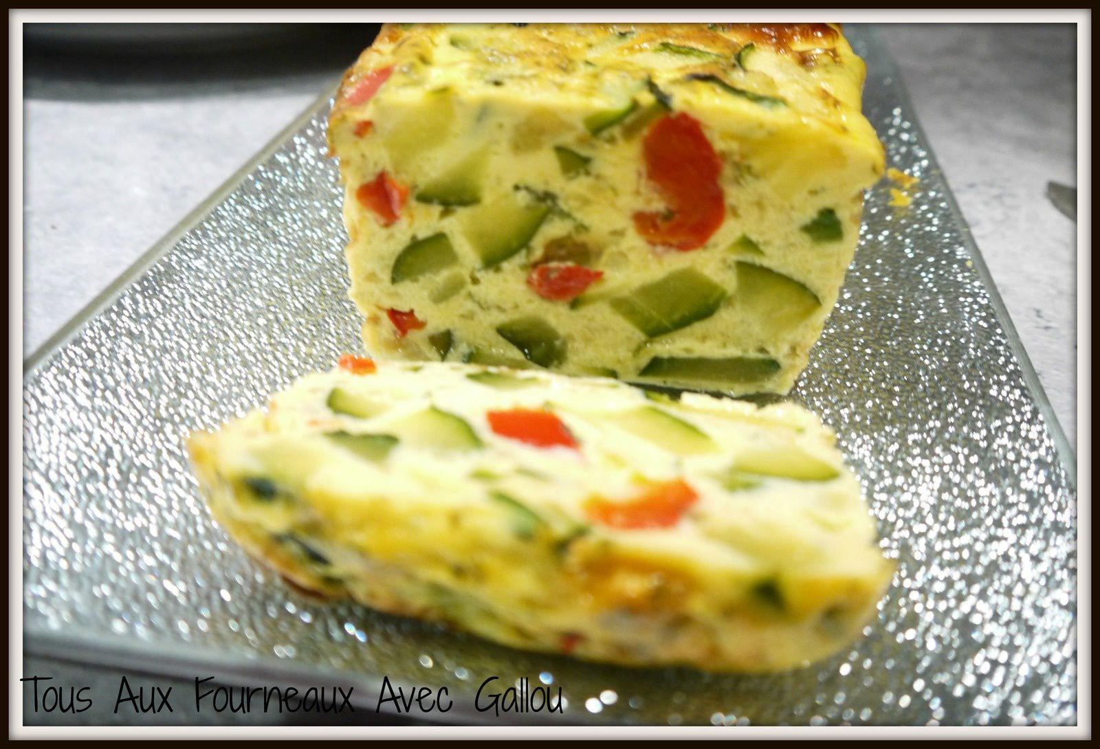 Cake Courgettes &amp&#x3B; Poivrons