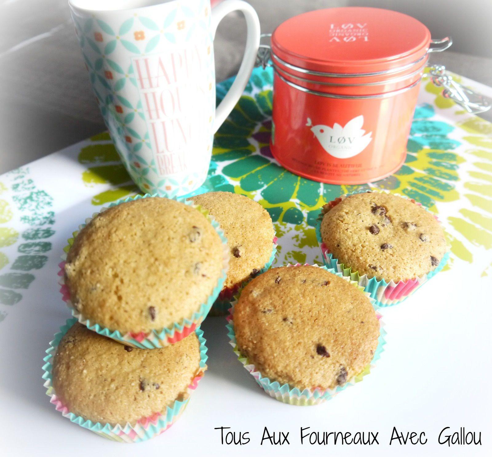 Muffins moelleux noisettes et pépites de chocolat