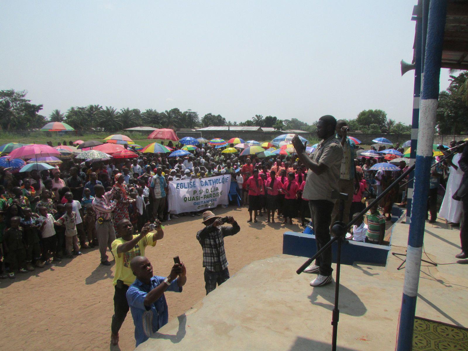 Photos du culte interreligieux pour l'unité et la paix au Sankuru avec Mgr Nicolas DJOMO, Bishop de Tshumbe