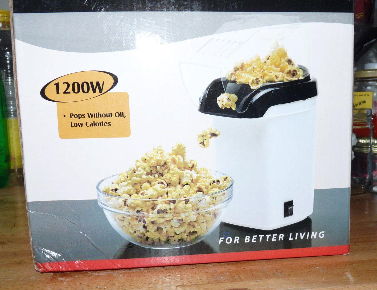 Et pour finir la soirée devant la TV j'inaugure mon appareil à Pop Corn !!!