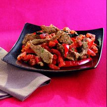 Emincé de boeuf au poivron rouge ( Weight Watchers)
