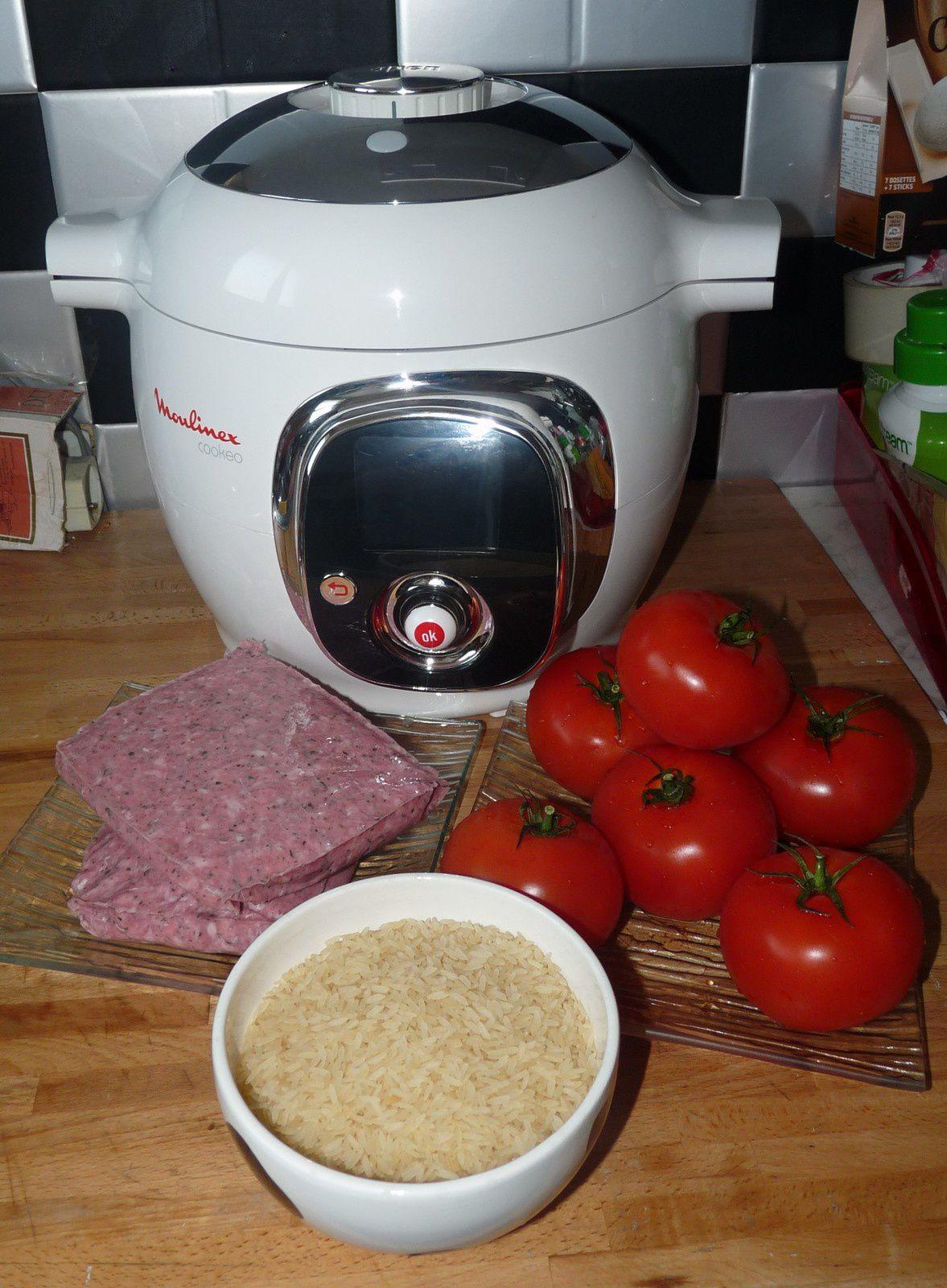 Riz aux tomates et farce (Cookeo)