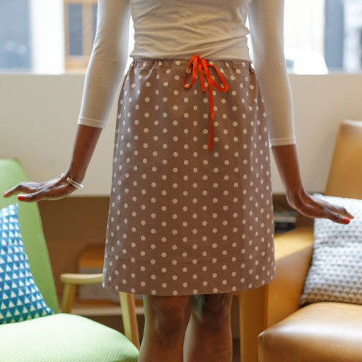 Cours de couture : Jupe à taille coulissée