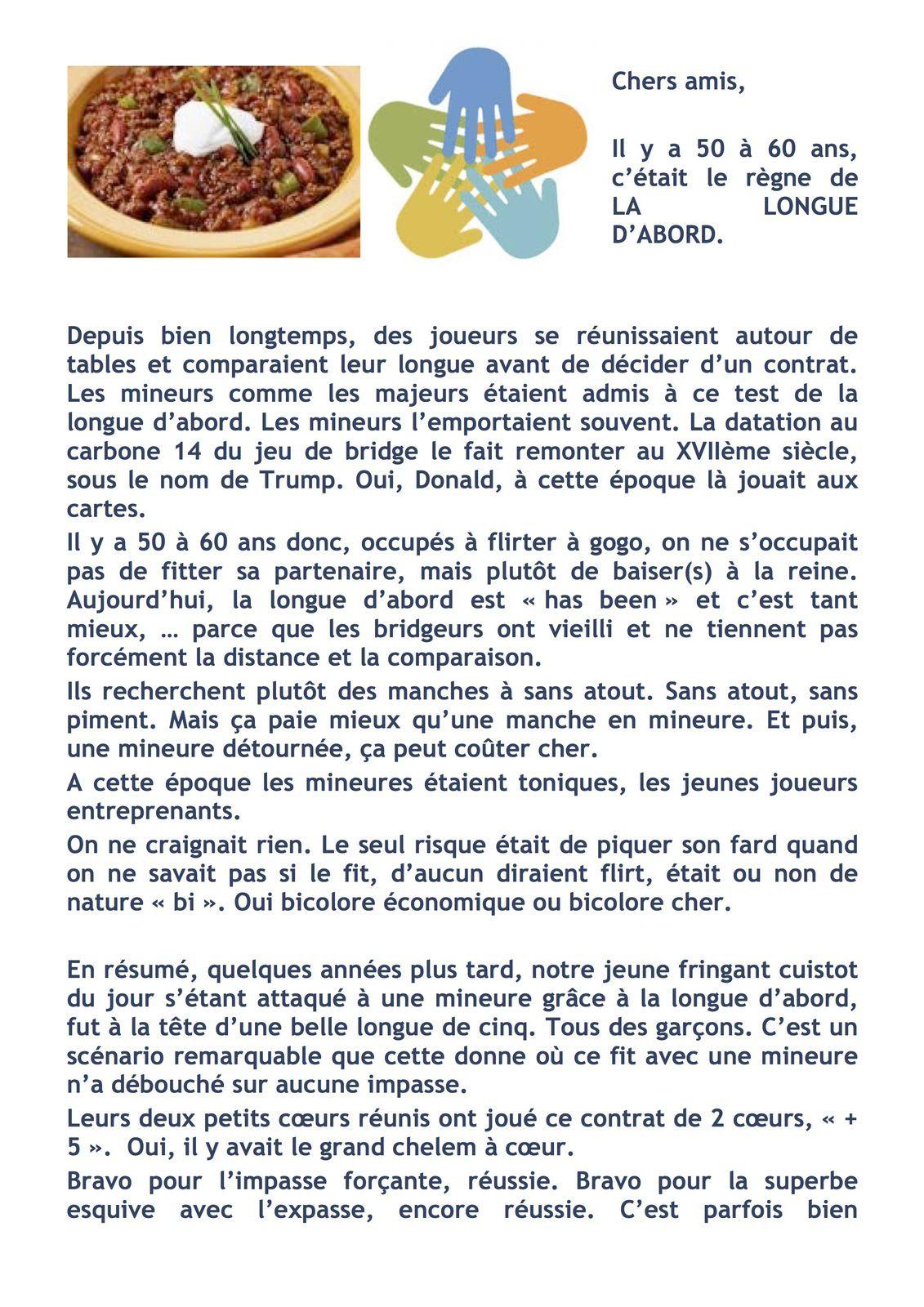 """Les remerciements du club au chef """"CHILI CON CARNE"""", alias Jean Paul Coutant"""