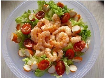 recette salade surimi crevettes crudit s regime hyperproteine juste prix pas cher. Black Bedroom Furniture Sets. Home Design Ideas