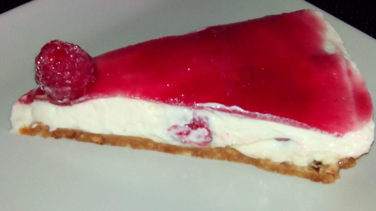 Cheesecake sans cuisson aux framboises passetempscuisine - Cheesecake framboise sans cuisson ...