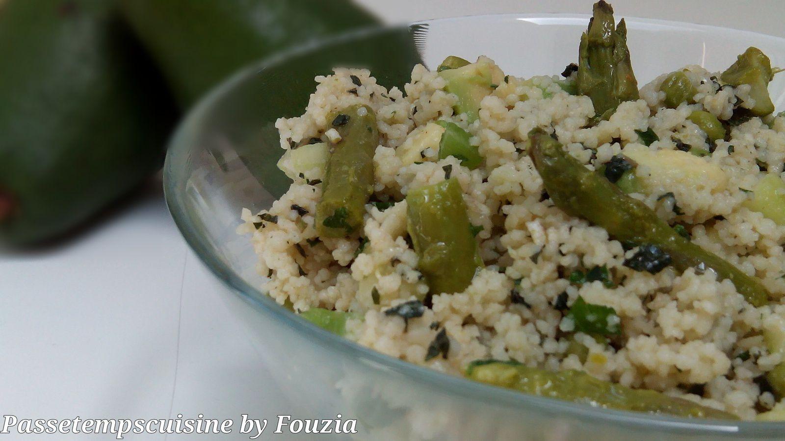 Taboulé de légumes verts