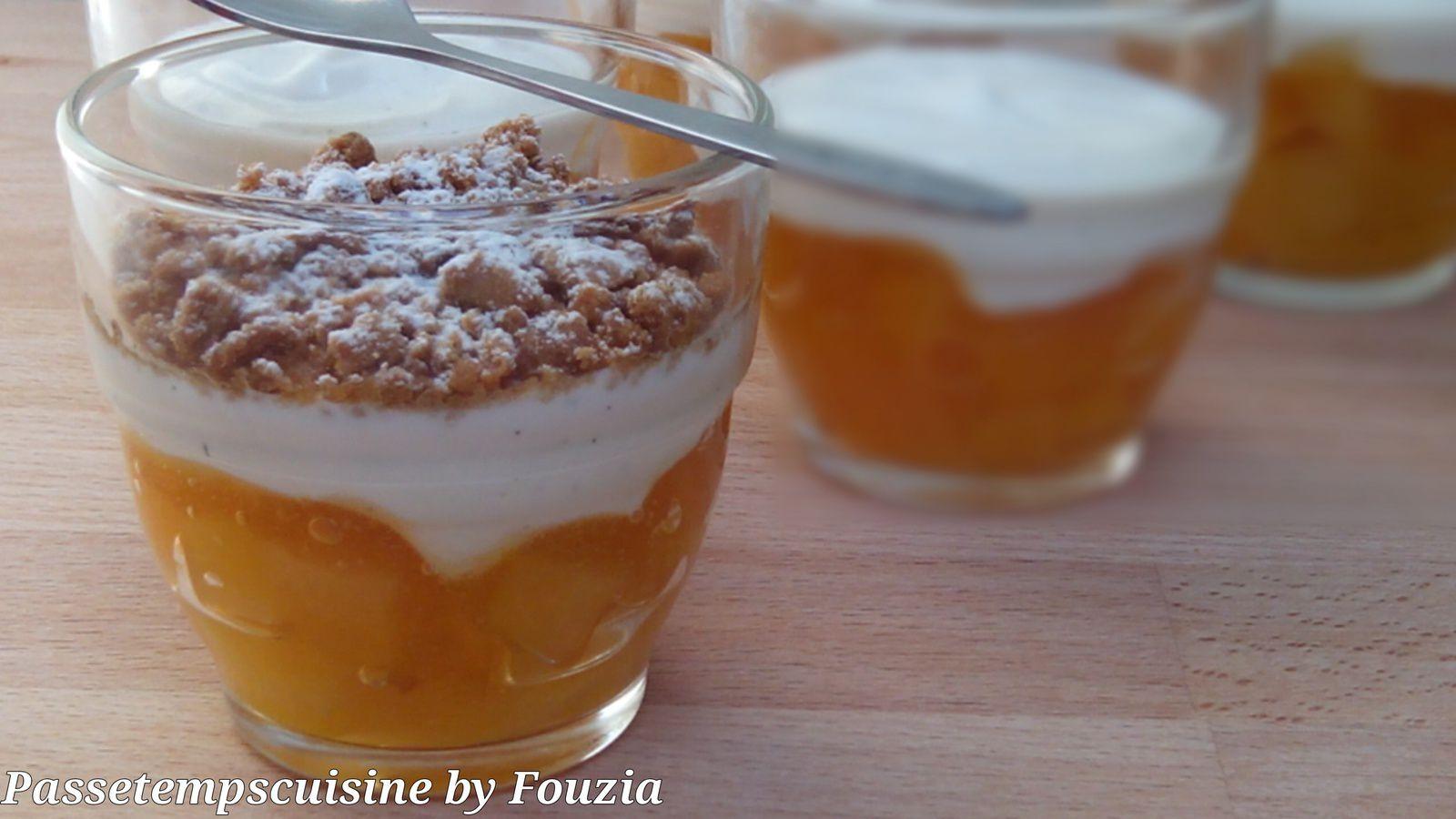 Verrines à l'abricot et spéculoos