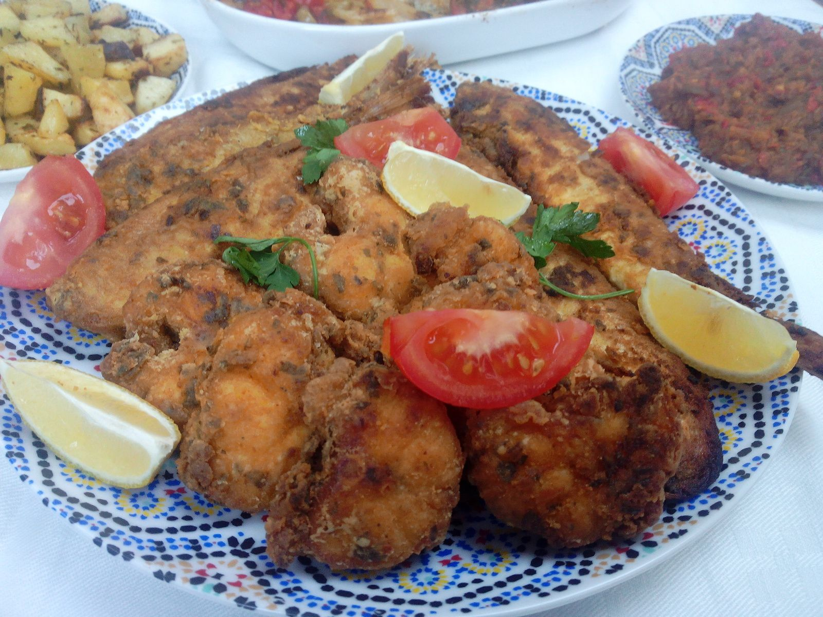 Méli-mélo de poissons frits à la Marocaine