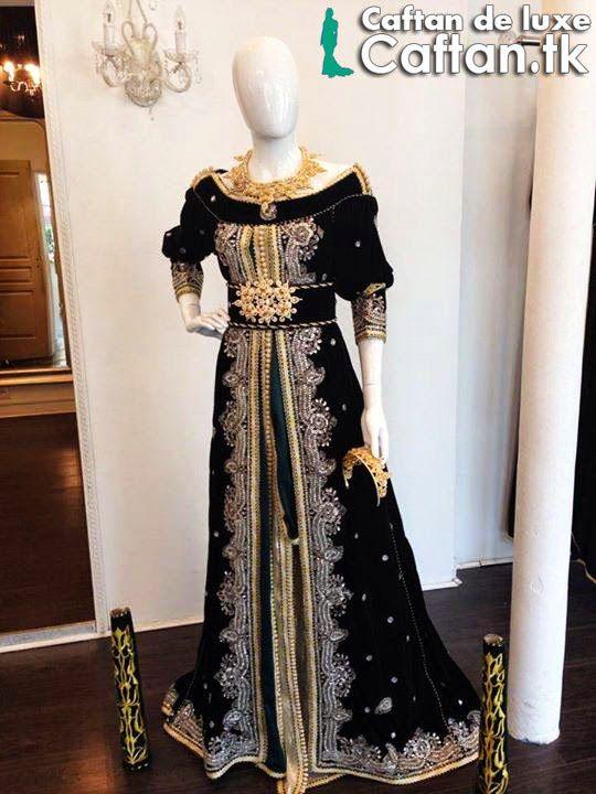 Caftan noir haute couture 2014