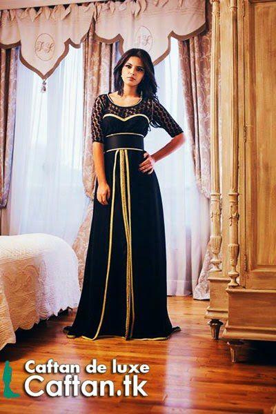 Robe de soirée noire d'or 2014