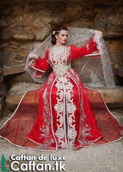 Caftan 2014   robe de mariée rouge unique