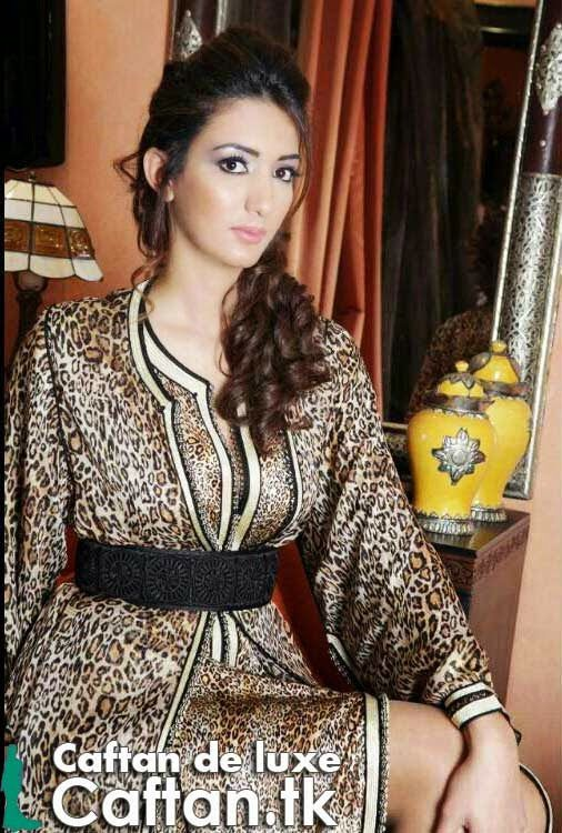 Robe Caftan marron luxueux