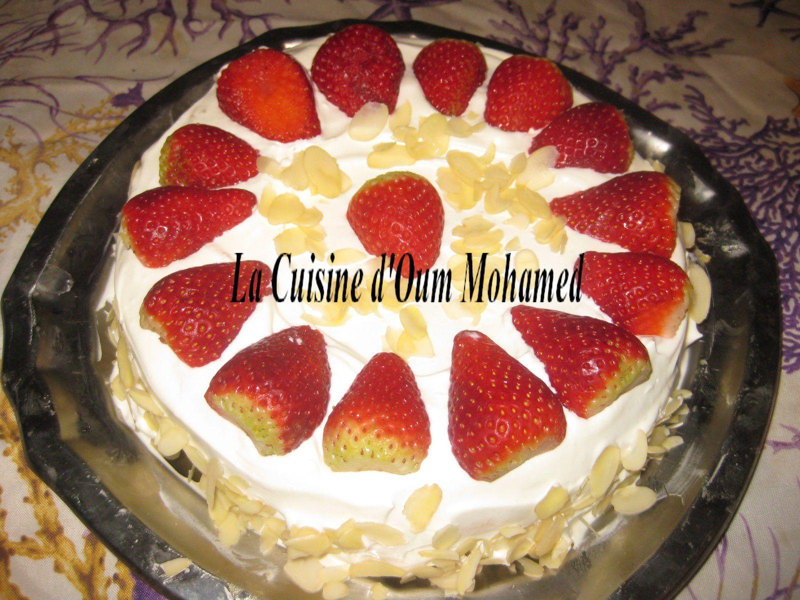 fraisier simple et rapide la cuisine d oum mohamed