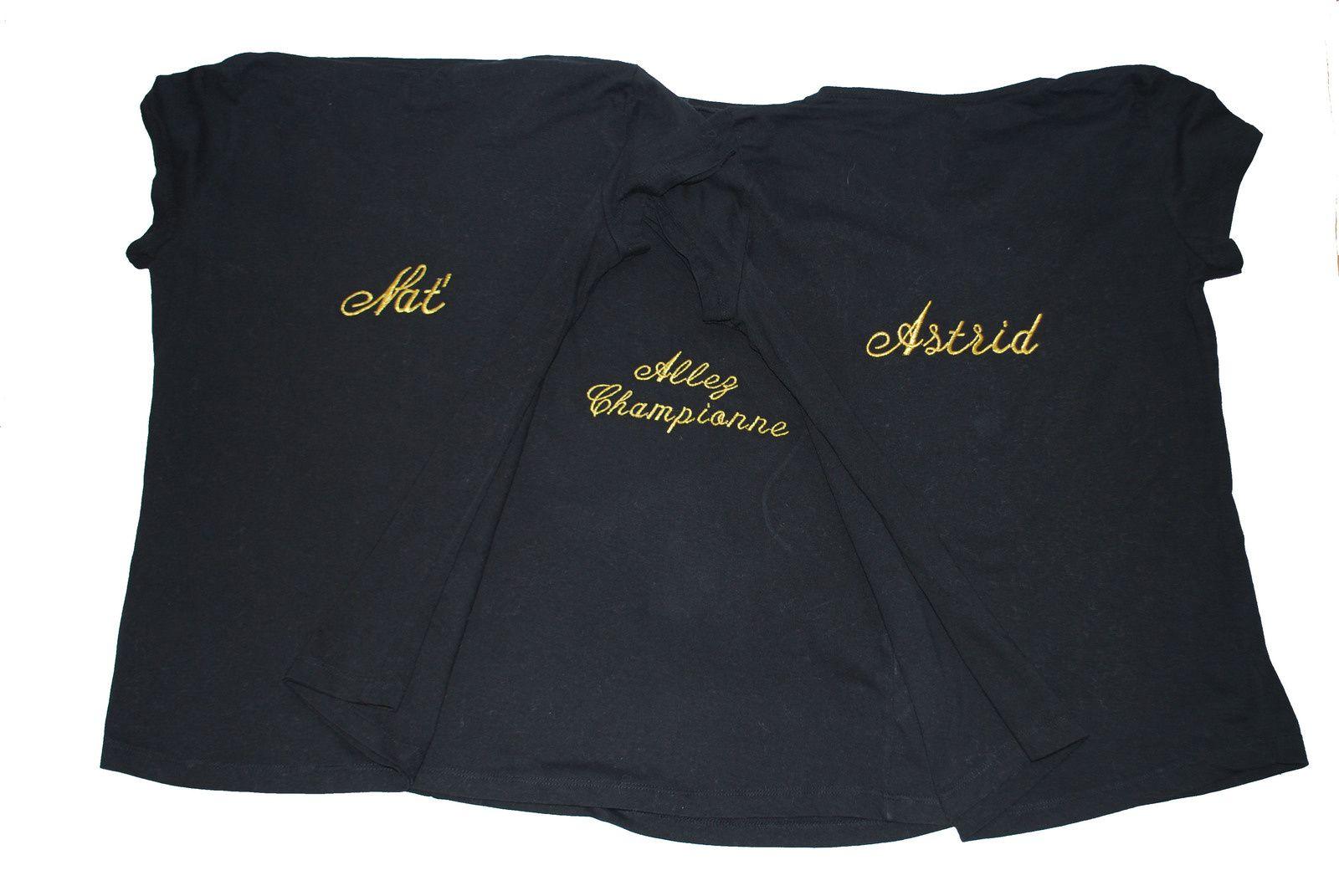 Tee shirts avec texte personnalisé pour femme