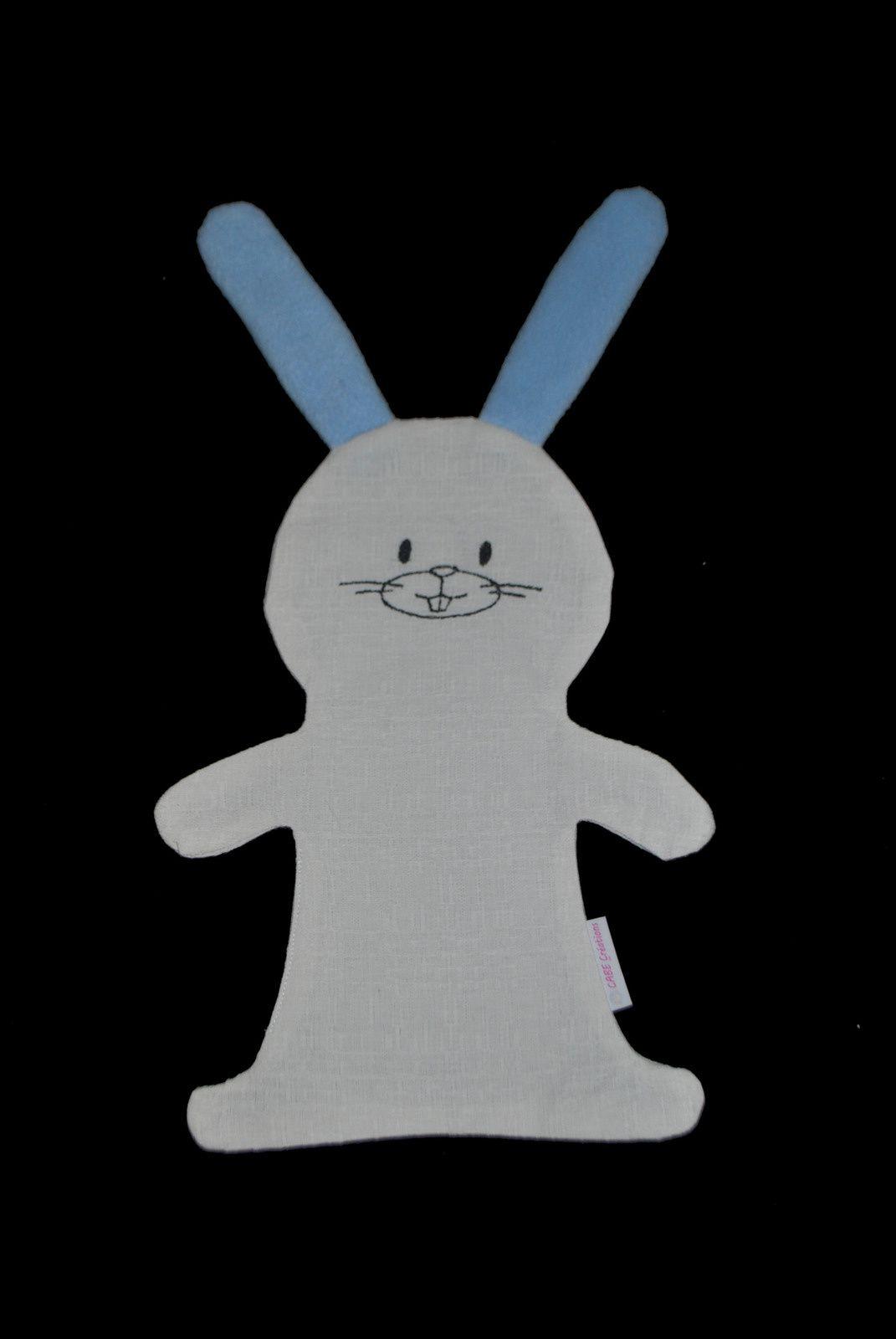 Doudou lapin personnalisable avec prénom sur le ventre