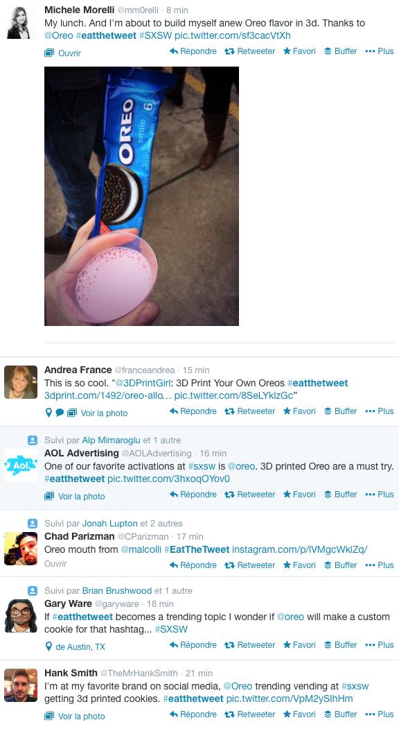 Au SXSW, on imprime les OREO en direct à partir des tweets