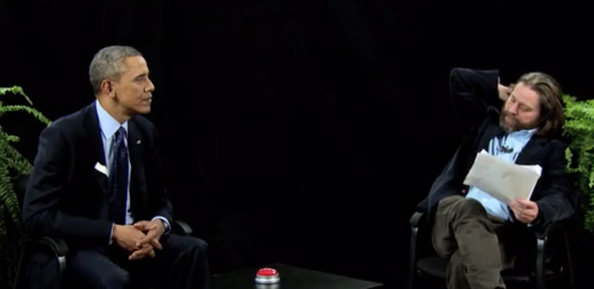 Quand Barack Obama est interviewé par Zach Galifianakis